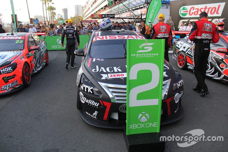 Tweede plaats Rick Kelly en David Russell, Nissan Motorsports