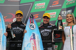 Podium: tweede plaats Rick Kelly en David Russell, Nissan Motorsports