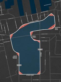 Mapa de ruta para el gran premio de IndyCar Boston