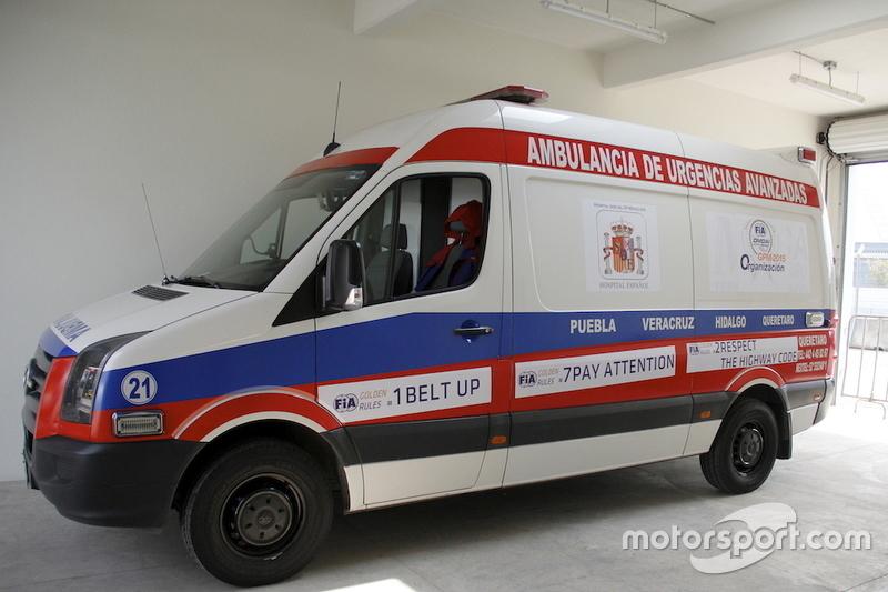 Centro Médico del Autódromo Hermanos Rodríguez Ambulancia