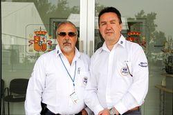 Juan Valles, director médico del Gran Premio de México y Jaime Fandiño, codirector médico del GP de México