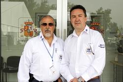Juan Valles, direttore medico del Gran Premio del Messico e Jaime Fandiño, codirettore medico del G