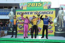Race winners Jerry Savoie, Erica Enders-Stevens, Del Worsham and Richie Crampton