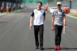 Stoffel Vandoorne, McLaren Honda Test and Reserve Driver with Pierre Gasly, Red Bull Racing Test Driver
