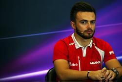 Will Stevens, Manor Marussia F1 Takımı FIA Basın Konferansında