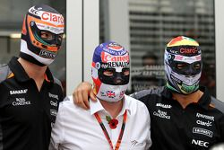 Nico Hulkenberg, Sahara Force India, Nigel Mansell, Sergio Perez, Sahara Force India