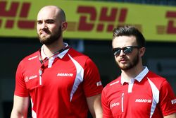 Will Stevens, Manor Marussia F1 Team walks the circuit with the team