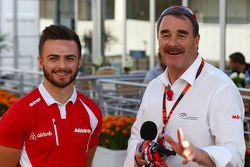 Will Stevens, Manor Marussia F1 Team avec Nigel Mansell