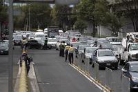Kemacetan lalu lintas di luar Autodromo Hermanos Rodriguez