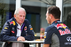 Dr. Helmut Marko, Red Bull Motorsport, Berater, mit Teamchef Christian Horner, Red Bull Racing