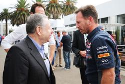 让•托德(FIA主席)与克里斯蒂安•霍纳(红牛领队)