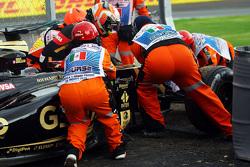Romain Grosjean, Lotus F1 E23 gestopt