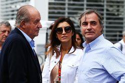 Former Spanish King Juan Carlos with Fabiana Flosi, and Carlos Sainz (ESP)