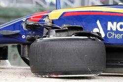 La Toro Rosso endommagée de Max Verstappen