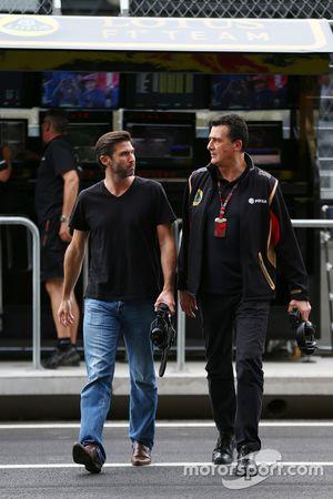 Matthew Carter, Lotus F1 Team CEO with Federico Gastaldi, Lotus F1 Team Deputy Team Principal