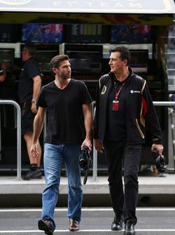 Matthew Carter, Lotus F1 Team, Geschäftsführer, mit Federico Gastaldi, Lotus F1 Team, stellvertretender Teamchef