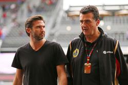 Matthew Carter, Lotus F1 Team, Geschäftsführer, mit Federico Gastaldi, Lotus F1 Team, stellvertreten