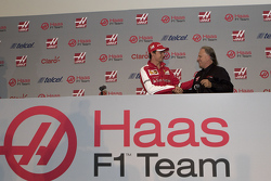 Esteban Gutiérrez and Gene  Haas, driver for Haas F1 Team, presentation