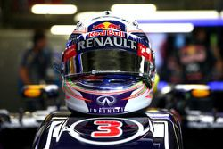 Casque de Daniel Ricciardo, Red Bull Racing RB11