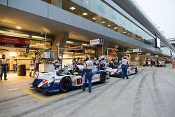 #1 Toyota Racing Toyota TS040 Hybrid: Sébastien Buemi, Anthony Davidson, Kazuki Nakajima and #2 Toyo