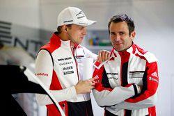 Marc Lieb with Romain Dumas, Porsche Team