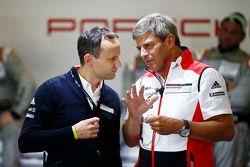 Alexander Hitzinger, LMP1 technical director Porsche Team with Fritz Enzinger, Head of Department LM