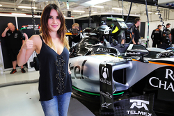 Dulce Maria, Singer and Actress with the Sahara Force India F1 Team