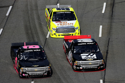 Cole Custer, Jr Motorsports Chevrolet, Brandon Hightower y Matt Crafton, Thorsport Racing Toyota