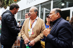 Carlos Slim, Business Magnate with Antonio Perez, father of Sergio Perez, Sahara Force India F1 Team