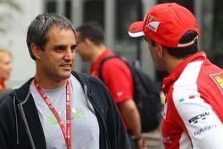 Juan Pablo Montoya, avec Marc Gene, Pilote d'essais Ferrari