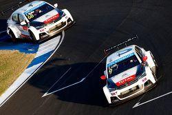 Sébastien Loeb, Citroën C-Elysée WTCC, Citroën World Touring Car team e Yvan Muller, Citroën C-Elysé