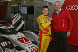 Richie Stanaway ile Chris Reinke, Audi Sport LMP Başkanı