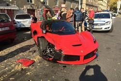 Choque  de LaFerrari en Budapest