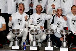 World Champion 2015 Timo Bernhard, Mark Webber, Brendon Hartley, Porsche Team