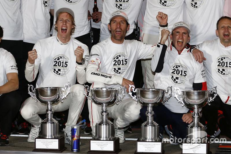 World Champion 2015 Timo Bernhard, Mark Webber, Brendon Hartley, Porsche Team