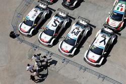 Citroën World Touring Car team cars of Yvan Muller, Sébastien Loeb, Ma Qing Hua, Jose Maria Lopez