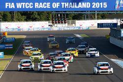 Départ : Jose Maria Lopez, Citroën C-Elysée WTCC, Citroën World Touring Car team mène