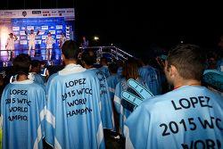 Citroën World Touring Car team celebra el campeonato 2015