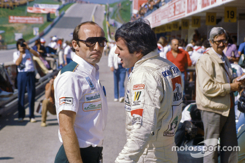 Frank Williams con Alan Jones, Williams