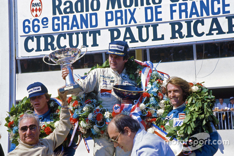 Alan Jones, Williams, Didier Pironi e Jacques Laffite