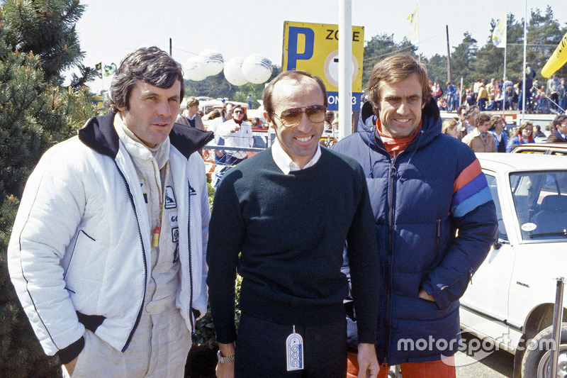 Frank Williams con Alan Jones y Carlos Reutemann, Williams