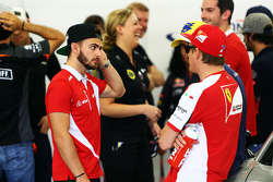 Will Stevens, Manor Marussia F1 Takımı geçit töreninde.