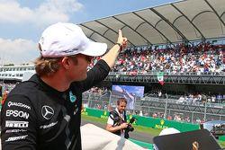 Nico Rosberg, Mercedes AMG F1 lors de la parade des pilotes