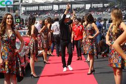 Nico Rosberg, Mercedes AMG F1 op de rijdersparade