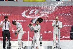 领奖台:尼科•罗斯伯格(梅赛德斯)、刘易斯•汉密尔顿(梅赛德斯)、瓦尔特利•博塔斯(威廉姆斯)