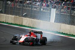 Alexander Rossi, Manor Marussia F1 Team locks up under braking