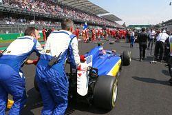 Felipe Nasr, Sauber C34, in der Startaufstellung