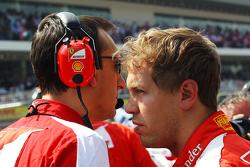 Sebastian Vettel, Ferrari op de grid