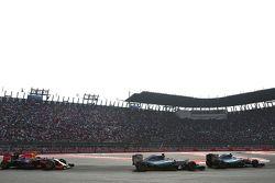 Lewis Hamilton, Mercedes AMG F1 Team, Nico Rosberg, Mercedes AMG F1 Team and Daniel Ricciardo, Red Bull Racing