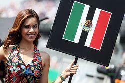 Grid girl de Sergio Perez, Sahara Force India F1